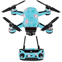 Skin for DJI Spark Mini Drone Combo - Water Flowers| MightySkins Protective, Durable, and Unique Vinyl Decal wrap cover | Easy To Apply, Remove, and Change Styles | Made in the USA