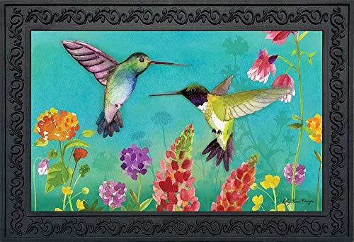 Briarwood Lane Hummingbird Greeting Spring Doormat Floral Indoor Outdoor 18 x 30