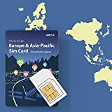 GMYLE Europe and Asia-Pacific 54 Countries and Regions, Prepaid SIM Card 12GB /