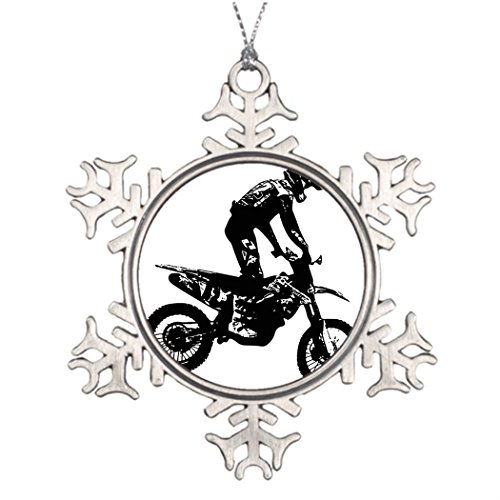 Personalised Christmas Tree Decoration Motocross black Home Decor Ideas Motorcycles (Christmas Ornaments Ideas)