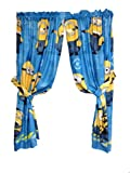 Despicable Me Drapes Minions Testing 123 Window Curtains0 For Sale