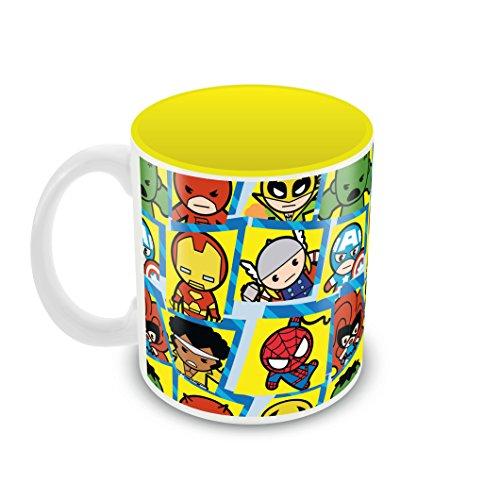Marvel 'Characters Kavaii' Round Ceramic Mug (8 cm x 9.5 cm)