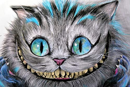 Cheshire Cat by Manuela Lai Alice in Wonderland Tattoo Design Art Poster Print]()