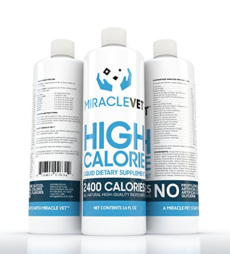 Miracle Vet High Calorie Weight Gainer for Dogs & Cats - 2,400 Calories. Adds Healthy Weight to Pets Fast. Vet-Approved for All Breeds and Ages. All Natural.