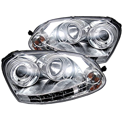 Spyder Auto Volkswagen GTI/Jetta/Rabbit Chrome Halogen LED Projector Headlight
