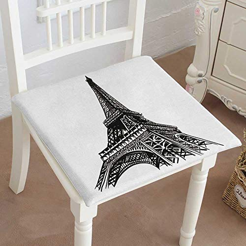Mikihome Chair Pads Squared Seat Eiffel Tower Paris Vector Outdoor Dining Garden Patio Home Kitchen Office 20