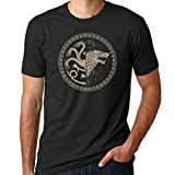 Game of Thrones Stark / Targaryen Sigil Black Shirt (Large)
