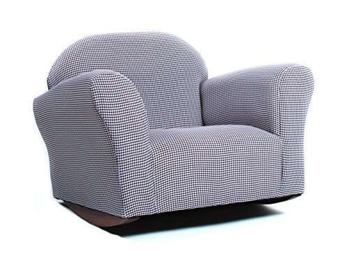 KEET Roundy Rocking Kid's Chair, Brown Gingham - Furniture Rocking Chair