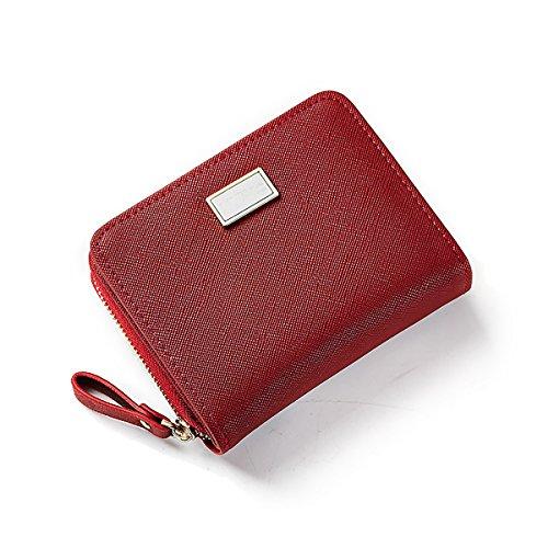 la Candy Titulaire glissière de Porte la à Carte Monnaie de Double Filles Couleur Monnaie Tisdaini Les Monnaie Rouge Femme Porte Vin Porte Embrayage PqwZCZ
