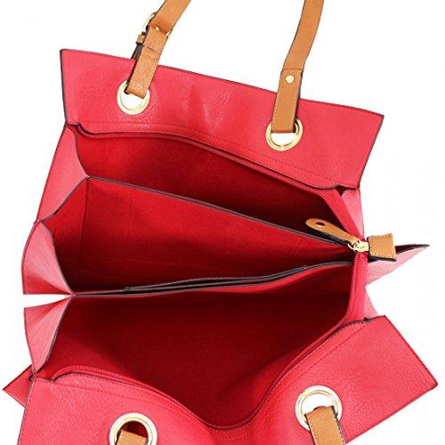 Craze Red Al Bolso London De Hombro Mujer Sintética Piel Para rqwrTPcg