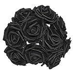 YONGSNOW-30Pcslot-8cm-PE-Foam-Rose-Artificial-Flower-Bouquets-for-Wedding-Party-Decoration-Black