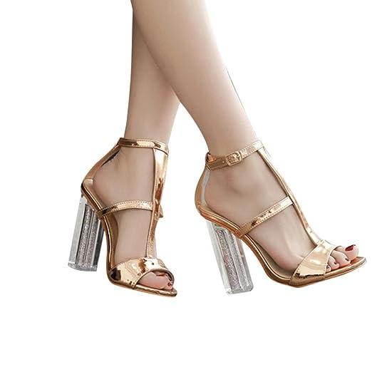 6df44d044a24b Amazon.com: Hunzed Women Sandals, Fashion { Buckle High Heel Shoes ...