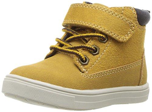 carter's Boys' Travis High-Top Casual Sneaker, Khaki, 10 M US Toddler (Carters Boys Khaki)