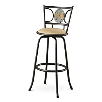 Fabulous Amazon Com Benjara Benzara Snazzy Stone Metal Microfiber Dailytribune Chair Design For Home Dailytribuneorg