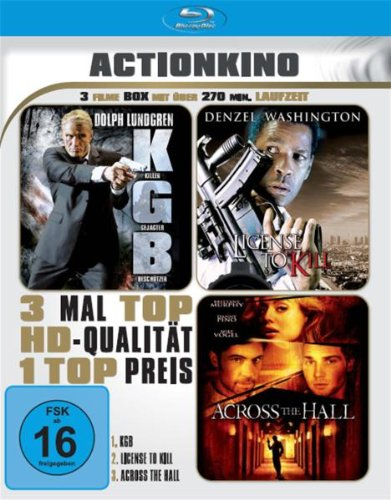 3x Actionkino: KGB / License to Kill / Across the Hall