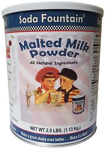 Milkshake Mix (Soda Fountain Malted Milk Powder 2.5 Lb. (Single) - Malt Powder for Ice Cream and Baking - Made in Wisconsin)