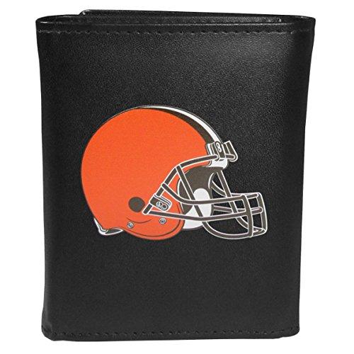 Siskiyou Sports NFL Cleveland Browns Tri-fold Wallet Large Logo, Black