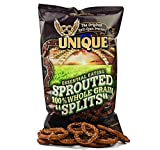 Unique Sprouted 100% Whole Grain Pretzel Splits (Pack of Four - 8 Oz. Bags) by Unique Pretzels