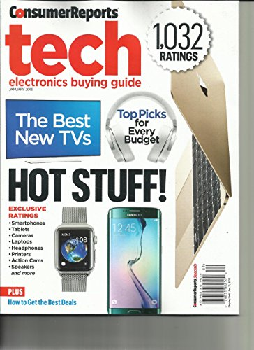 Consumer Reports Tech Electronic Buying Guide January, 2016 ( 1,032 Ratings )