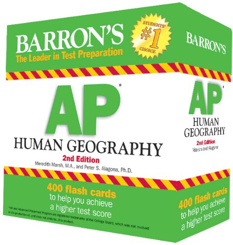 Barron's AP Human Geography Flash Cards, 2nd Edition