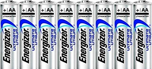 Energizer Ultimate Lithium AA Batteries (8-Pack) in Economical Bulk Packaging