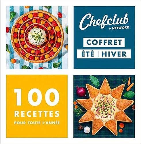 Book's Cover of Chefclub - Coffret de deux livres de cuisine : Cuisine d'été et Cuisine d'hiver - 100 recettes pour toute l'année (Français) Coffret produits – 15 novembre 2019