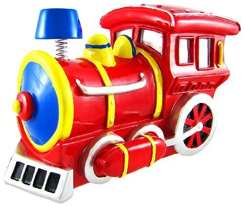 Kingmax Bobble Smoke Stack Red Train Money Piggy Bank ()