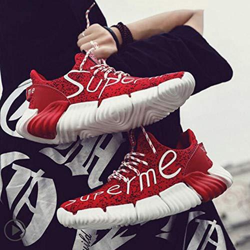 pour CN40 Sport Sauvages 5 EU39 FH Version coréenne Respirante Couleur Chaussures de Hommes Red Size de UK6 wqBf0a8Y