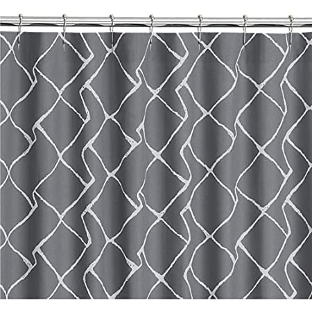 CB2 Maze Shower Curtain 100 Percent Cotton Modern Printed Curtains 72 Inch By White And Gray Amazoncouk Kitchen Home