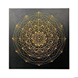 Home Decoration DIY Thread Winding Stereo Geometry Decorative Painting, Mural DIY Material Package Decompression Desktop Decoration Decorations, Parent-Child Manual Interactive Game