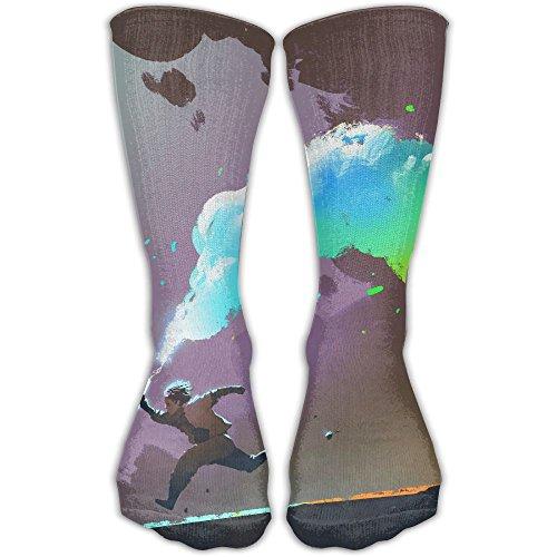 Unisex Classics Socks Colorful Smoke Flare Athletic Stockings 30cm Long Sock One - Flare Smoke