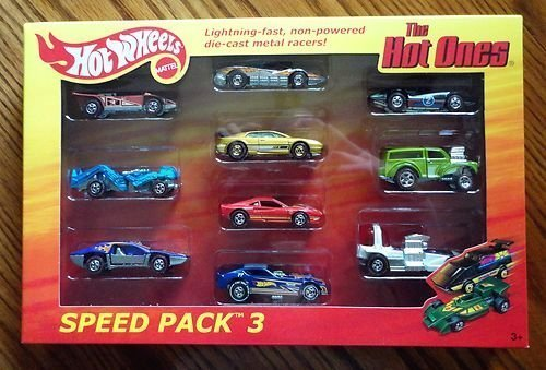 Hot Wheels 2012 The Hot Ones Speed Pack 3 All Chase Cars Steam Roller / Zombot / Side Kick / Aeroflash / Lotus Esprit / Ferrari GTO / '77 Plymouth Arrow / Second Wind / Morris Wagon / Bubble Gunner