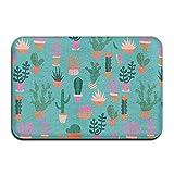 Cactus Illustration Outdoor Bathroom Mats 2416 Inch Floor Mat