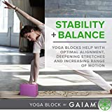 Gaiam Yoga Block - Supportive Latex-Free EVA Foam