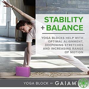 Gaiam Yoga Block – Supportive Latex-Free EVA Foam Soft Non-Slip Surface for Yoga, Pilates, Meditation