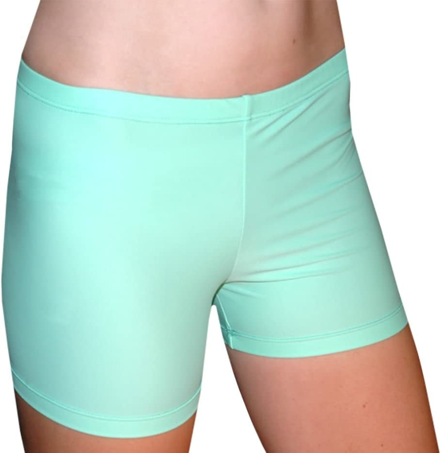 4 Inch Inseam Tuga Girls//Women Spandex Shorts Solids