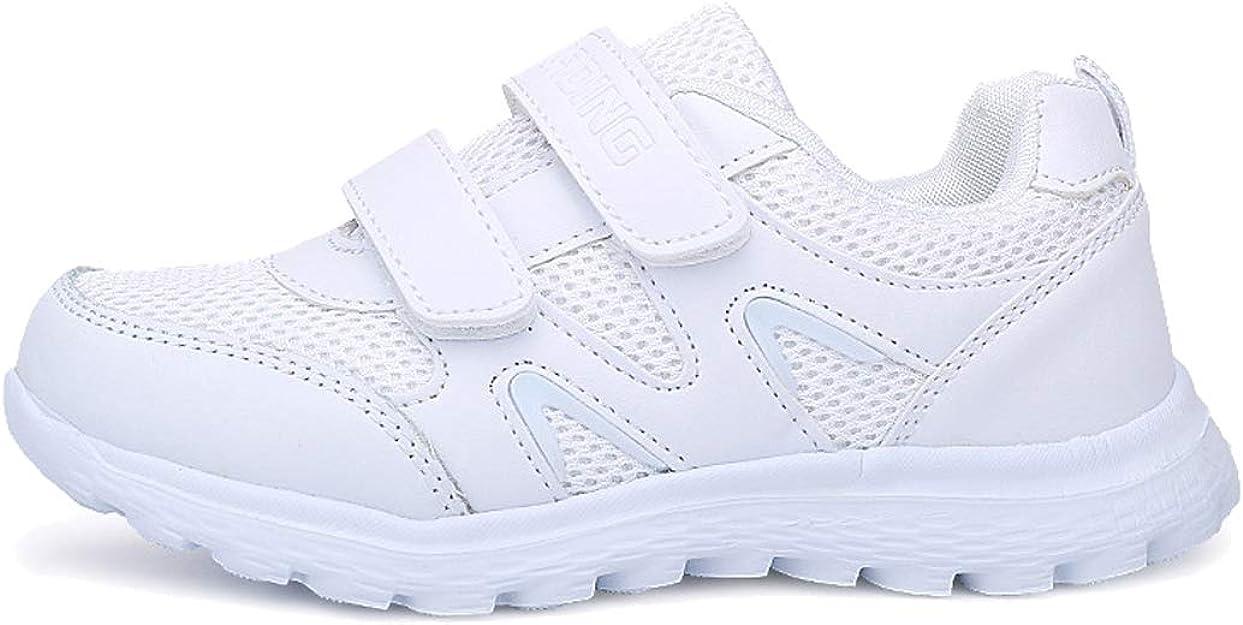 Velukin Zapatillas Deportivas Unisex para Niños Transpirables Zapatillas de Running,Malla-Blanca,34EU: Amazon.es: Zapatos y complementos