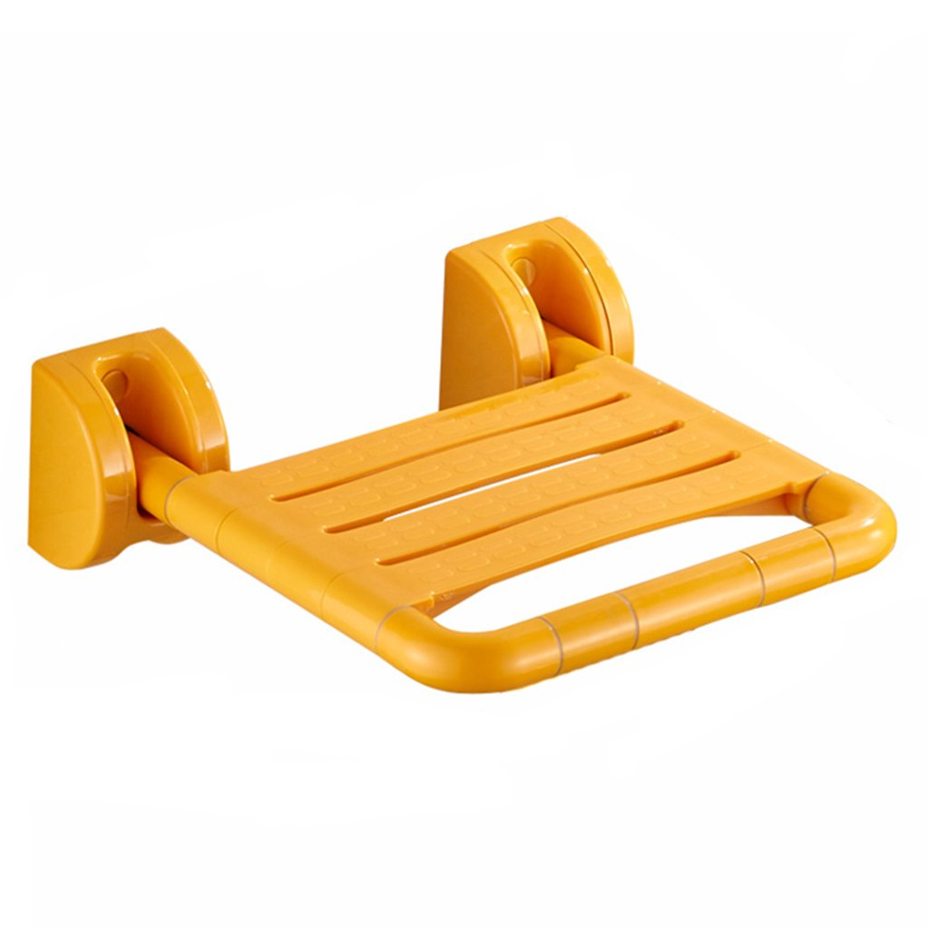 TH シャワーチェア 高齢者セーフ折り畳み式アクセシビリティトイレスツールバスルームシートシャワースツール 風呂椅子 ( 色 : イエロー いえろ゜ )  イエロー いえろ゜ B07CDQKLP8