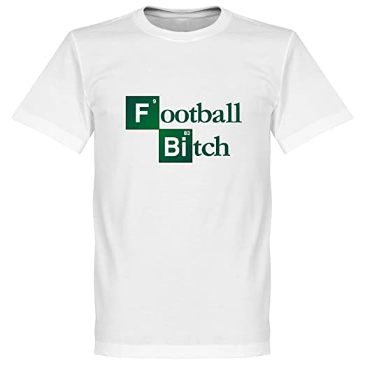 Bitch - Camiseta de fútbol, color blanco Blanco blanco 4XL: Amazon ...
