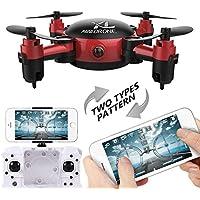 Cewaal S18 mini Foldable Pocket Drone with Camera Live Video,One Key Return, Headless Mode Drone for Kids