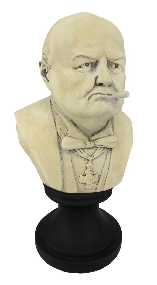 Things2Die4 Ceramic Winston Churchill with Cigar Bust