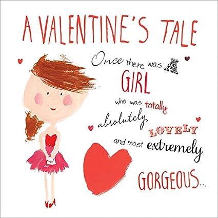 Tarjeta de San Valentín con corazón rojo para ella, de ...