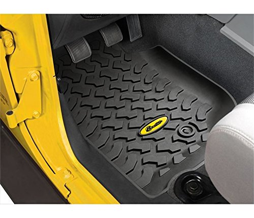 Bestop 51500-01 Front Pair of Floor Mats for 2007-2013 Wrangler 2-Door & 4-Door ()