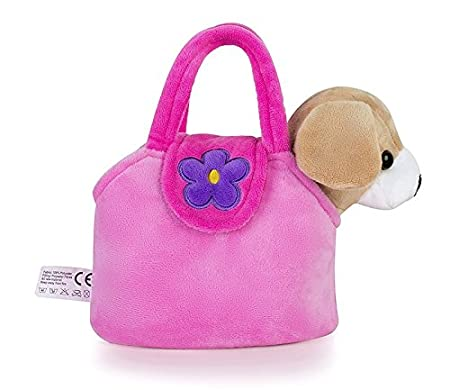 Lazada Girls Plush Puppy Purse with Carrying Bag Toy Spot Dog 7 in High