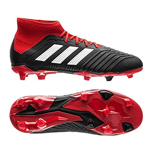 adidas Predator 18.1 Firm Ground Boots Junios/Kids- Black/Red (3Y)