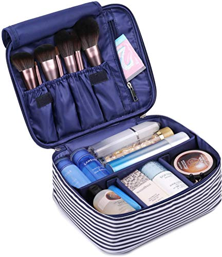 Travel Makeup Bag Large Cosmetic Bag Make up Case Organizer for Women and Girls