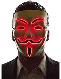 Men's Light Up V for Vendetta, Guy Fawkes Mask, One Size
