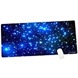 CENNBIE Galaxy Extra Large XXL Gaming Mousepad Non-Slip Rubber Oblong MousePad for Computer Desk Stationery Accessories 35.4 x 15.5in (Edge Stitched)