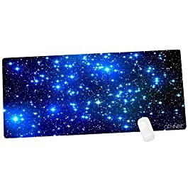 CENNBIE Galaxy Extra Large XXL Gaming Mousepad Non-Slip Rubber Oblong Mousepad for Computer Desk Stationery Accessories…