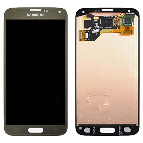 Touch Screen Digitizer and LCD for Samsung Galaxy S5 - Gold (S5 Replacement Lcd Galaxy Samsung)